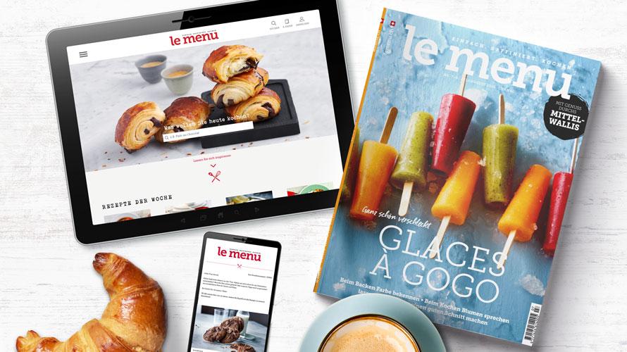 le menu Kochzeitschrift gratis testen